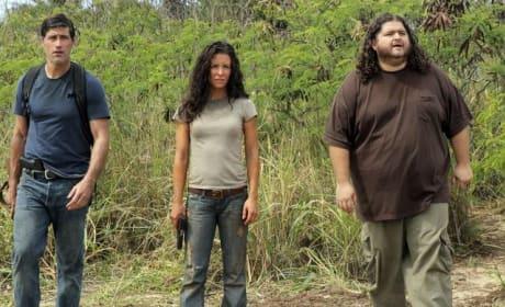 Jack, Kate and Hurley