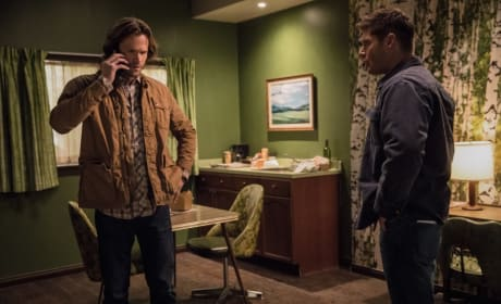 Sam takes a call - Supernatural Season 12 Episode 21