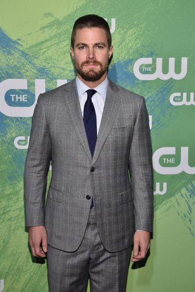 Stephen Amell Attends CW Presentation