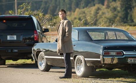 Castiel gazes fondly into the distance - Supernatural Season 12 Episode 8