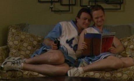 Marshall and Barney Texting