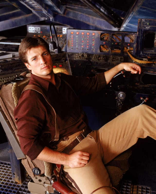 Nathan Fillion (Captain Malcolm Reynolds) - Firefly