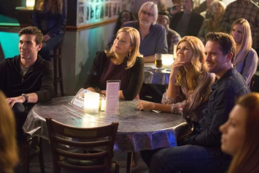 Rayna and Deacon at dinner with friends - Nashville Season 5 Episode 4