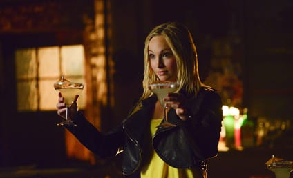 The Vampire Diaries Photo Gallery: Caroline Gets Her Drink On