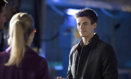 Grant Gustin on Arrow