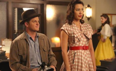 Wendell and Angela Sport their 1950's Attire  - Bones Season 10 Episode 10