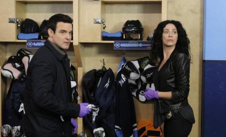 Pete & Myka In The Locker Room