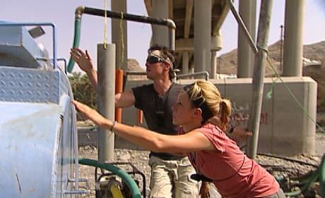 Jill and Thomas Check the Water