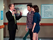 Barney, Ted and Robin at the Hospital