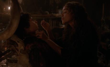 Seamstress At Work - Salem Season 3 Episode 9