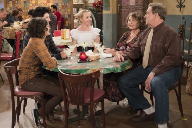 Family Dinner - Roseanne Season 10 Episode 8