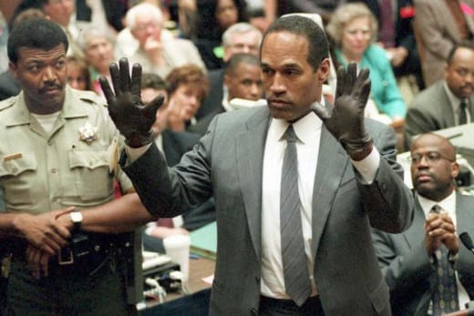 OJ at Trial with Gloves