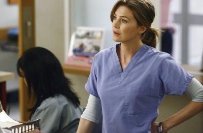 Meredith Looks Distraught