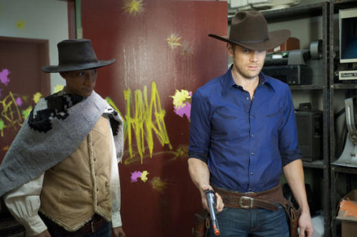 Jeff and Abed as Cowboys