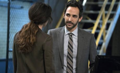 Aram and Samar take a moment - The Blacklist Season 4 Episode 9