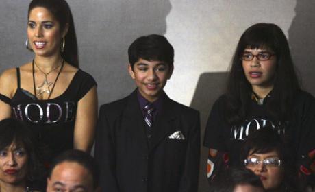 Betty, Hilda and Justin at Fashion Week