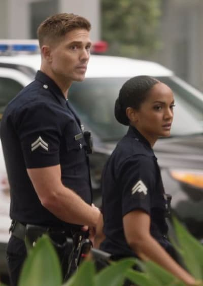 Officers Bradford and Harper - The Rookie Season 3 Episode 2