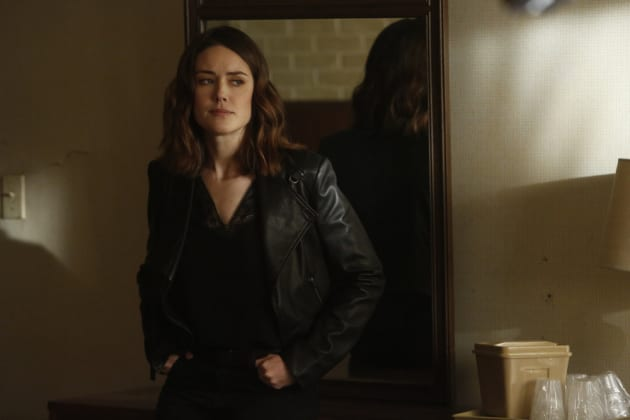 Liz doesn't look happy - The Blacklist Season 4 Episode 22