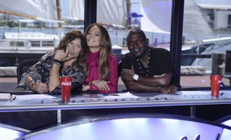 Steven Tyler, Jennifer Lopez and Randy Jackson