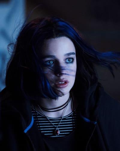 Teagan Croft as Rachel Roth aka Raven - Titans