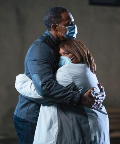 Bem Holds Bailey  - Grey's Anatomy Season 17 Episode 8
