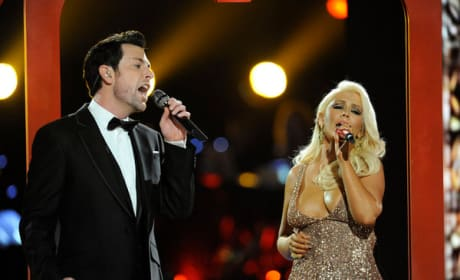 Chris Mann and Christina Aguilera