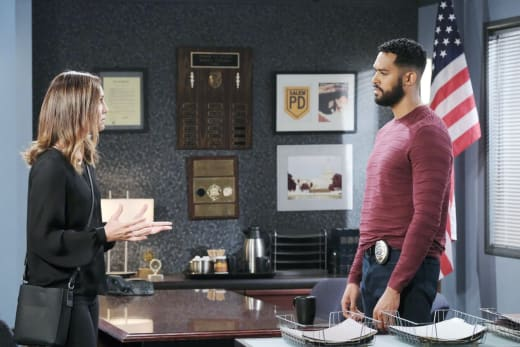Eli Grills Gwen - Days of Our Lives