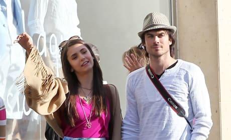 Ian Somerhalder and Nina Dobrev Sighting