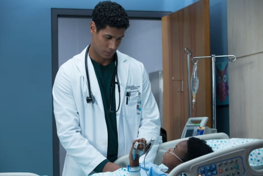 Dr. Kalu and Gabriel - The Good Doctor Season 1 Episode 9
