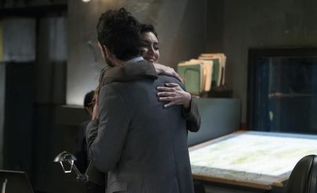 Samar hugs Aram! - The Blacklist Season 4 Episode 9