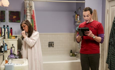 Amy and Sheldon's Routine - The Big Bang Theory Season 10 Episode 15