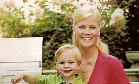 Alison Sweeney with Son
