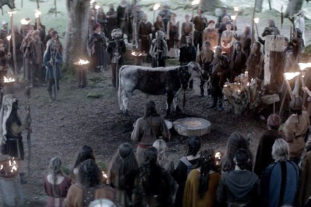 Vikings Most Brutal Moments Bull Sacrifice