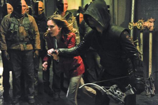 Laurel and the Arrow Flee
