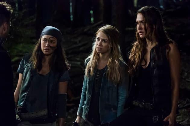 Emori, Harper, and Echo - The 100 Season 5 Episode 5