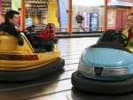 Alexis and Daniel in Bumper Cars