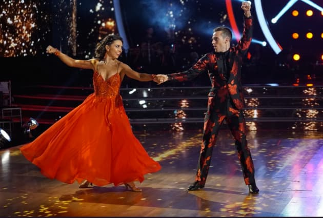 Adam Rippon in Red - Dancing With the Stars: Athletes Season 26 Episode 2