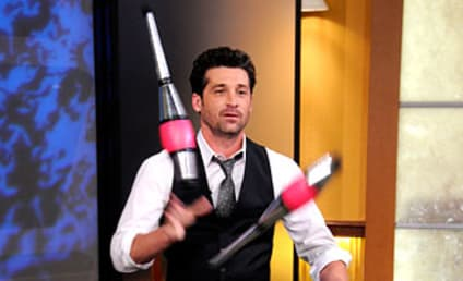 Patrick Dempsey Juggles on Good Morning America