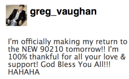 Greg Vaughan to Guest Star on 90210