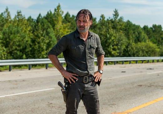 Rick takes a break - The Walking Dead Season 7 Episode 9
