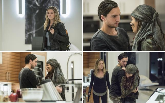 Clarke arrives at the lab the 100 season 4 episode 7