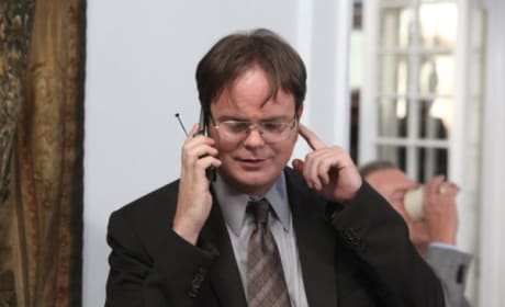 Dwight on the Phone
