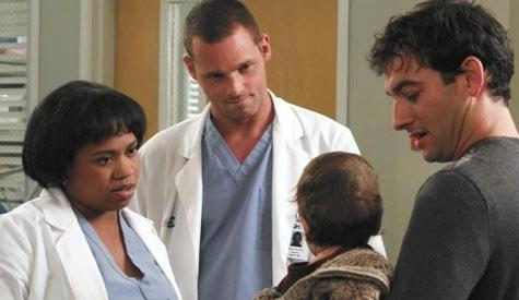 Bailey, Karev and a Patient's Hubby, Child