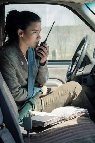 Luciana on the Radio - Fear the Walking Dead Season 5 Episode 8