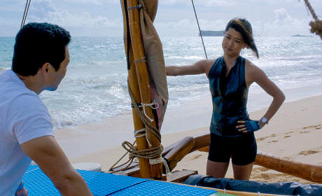 China and Kono Getting Ready - Hawaii Five-0