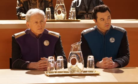 Admiral Halsey and Captain Mercer - The Orville