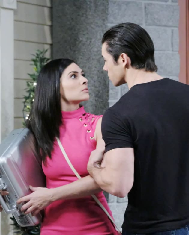 Gabi Confronts Xander - Days of Our Lives