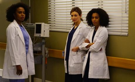 Amelia, Maggie, and Stephanie - Grey's Anatomy Season 13 Episode 3