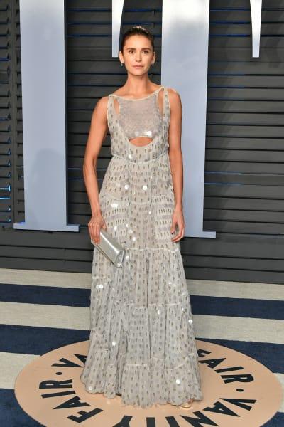 Nina Dobrev Attends Oscars Party