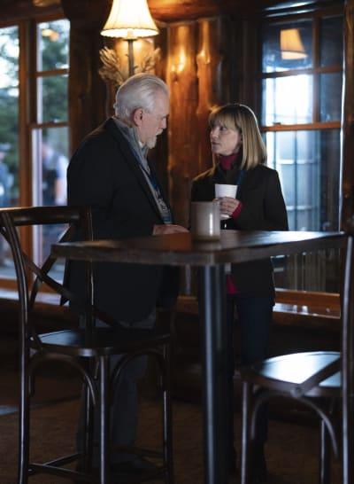 Logan Leans on Rhea - Succession Season 2 Episode 6